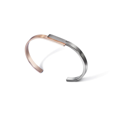U-DOUBLE 7 - Silver and Vermeil Bangle Bracelet