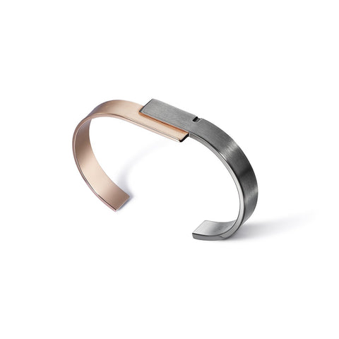 Ursul Bangle Bracelet U-DOUBLE 13 - Silver and Vermeil
