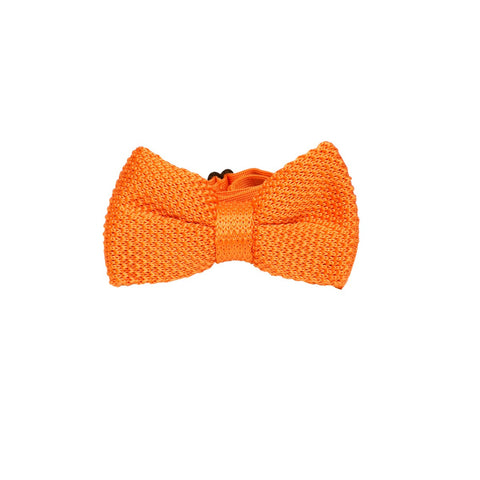 Knitted bowtie Albert orange