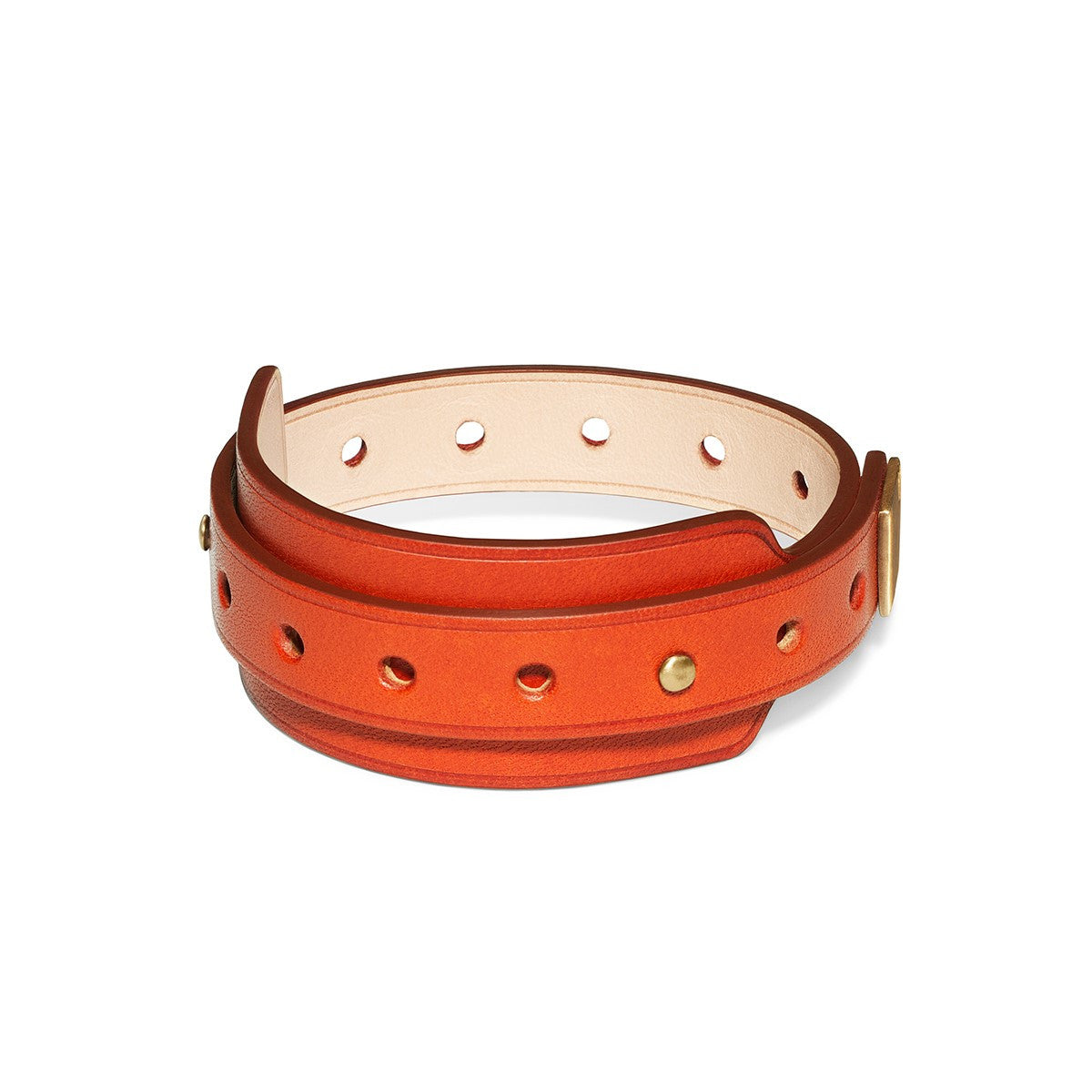 Sienna Red Leather Bracelet