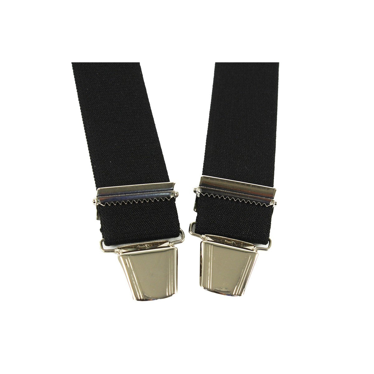 Elastic Suspenders X shape Clip end made in France black