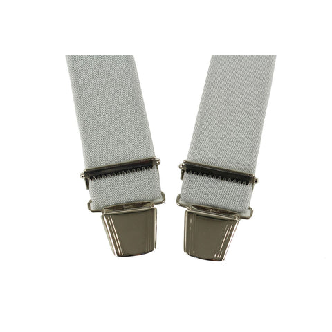 Elastic Suspenders X shape Clip end made in France grey