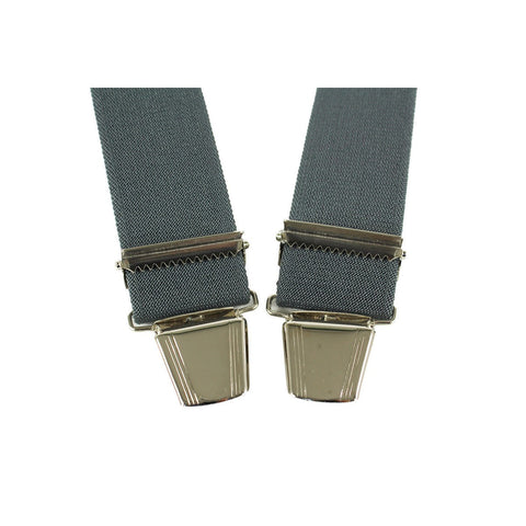 Elastic Suspenders X shape Clip end made in France dark grey