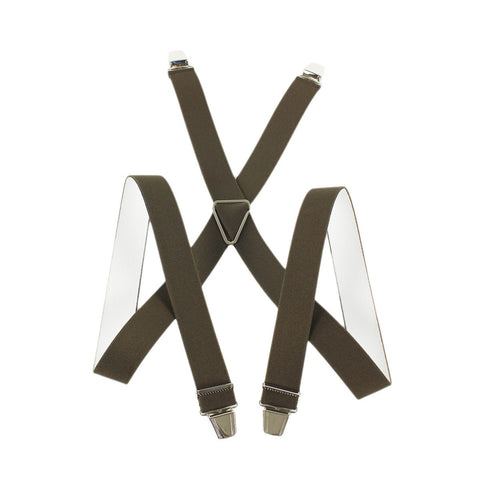 Elastic Suspenders X shape Clip end made in France Green
