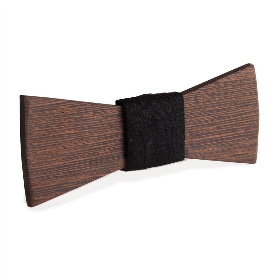 Wooden Bow tie Le Grand Tropical Brun