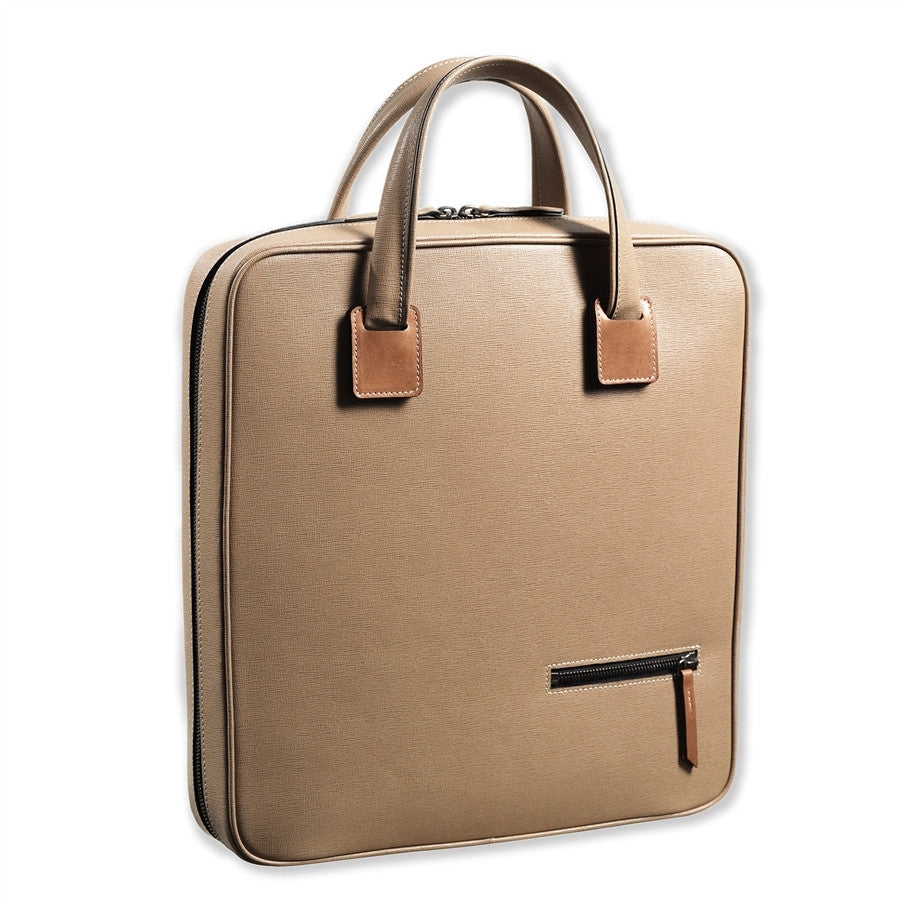 Men Leather Briefcase for computer and Ipad DENNIS BROWN