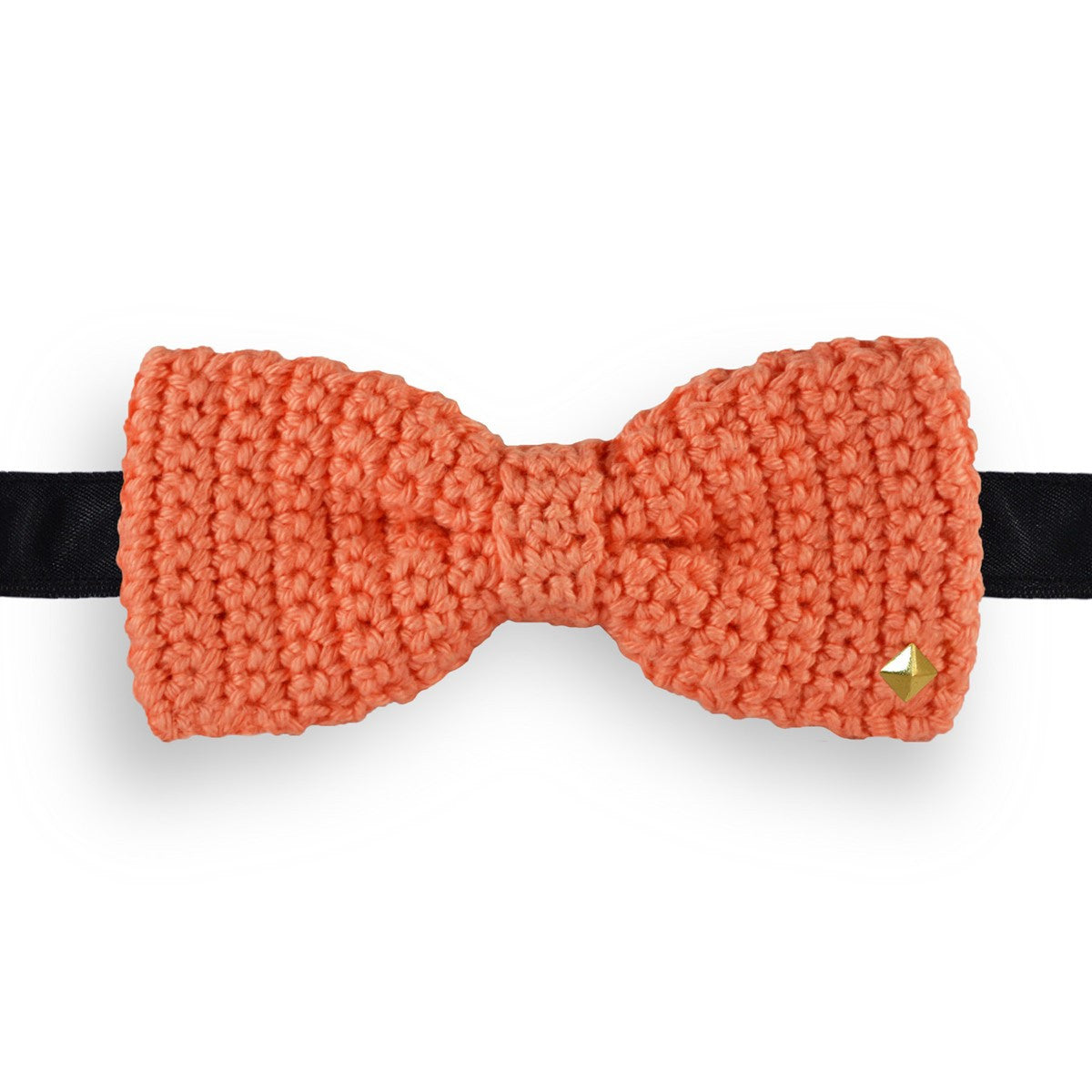 Salmon Bow Tie Crochet Made in France Aurore