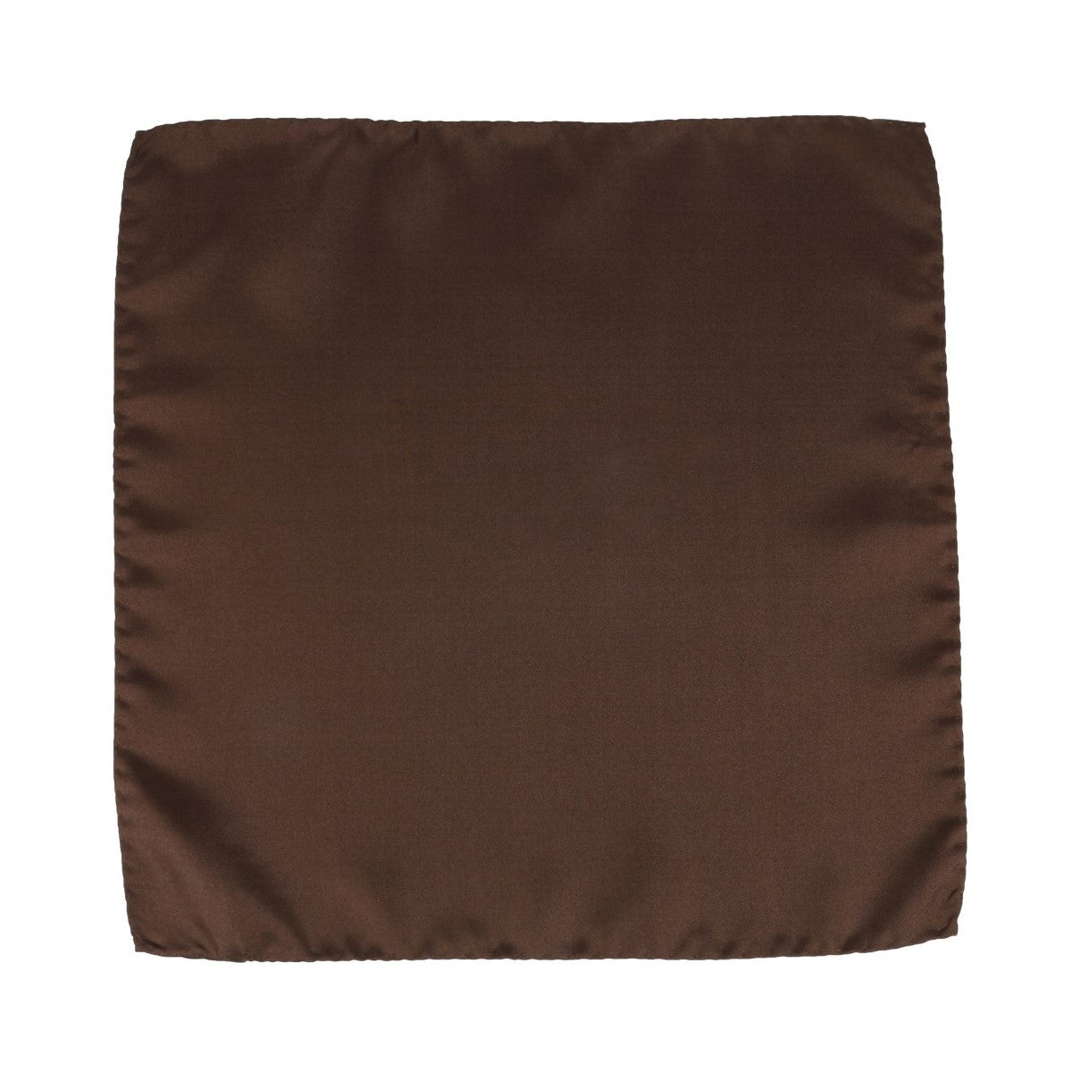 Brown Silk Pocket Square Côte d'Or