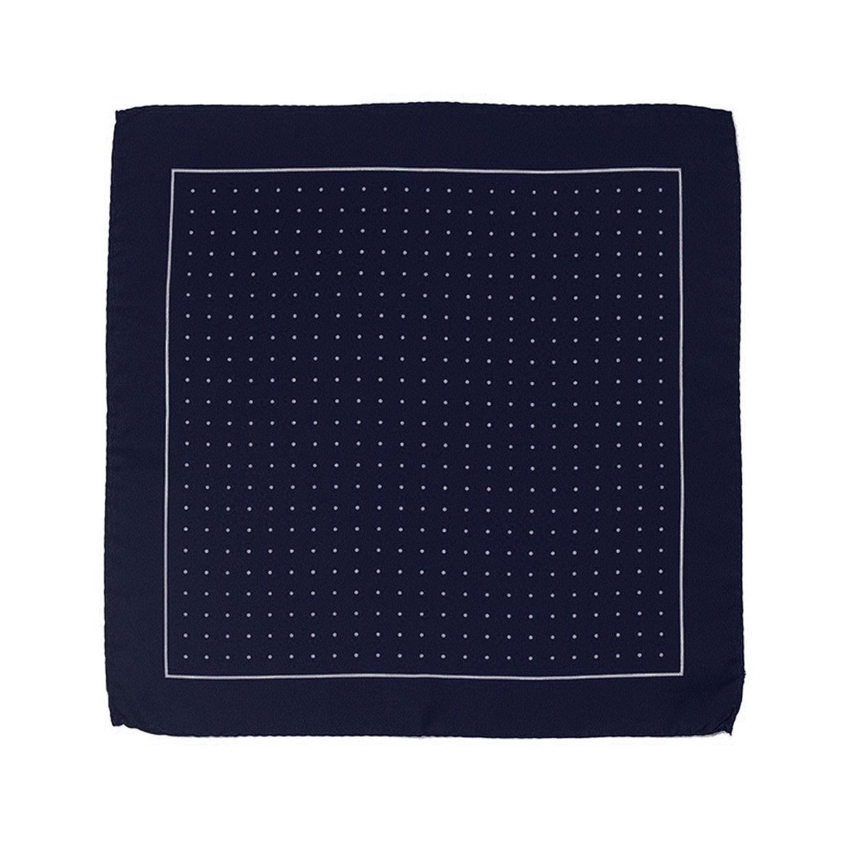 Blue Silk Pocket Square Le Gentilhomme et la Mer