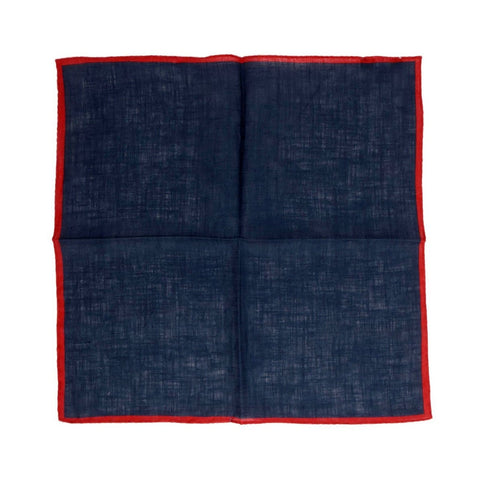 Blue Linen Pocket Square My Blueberry Nights