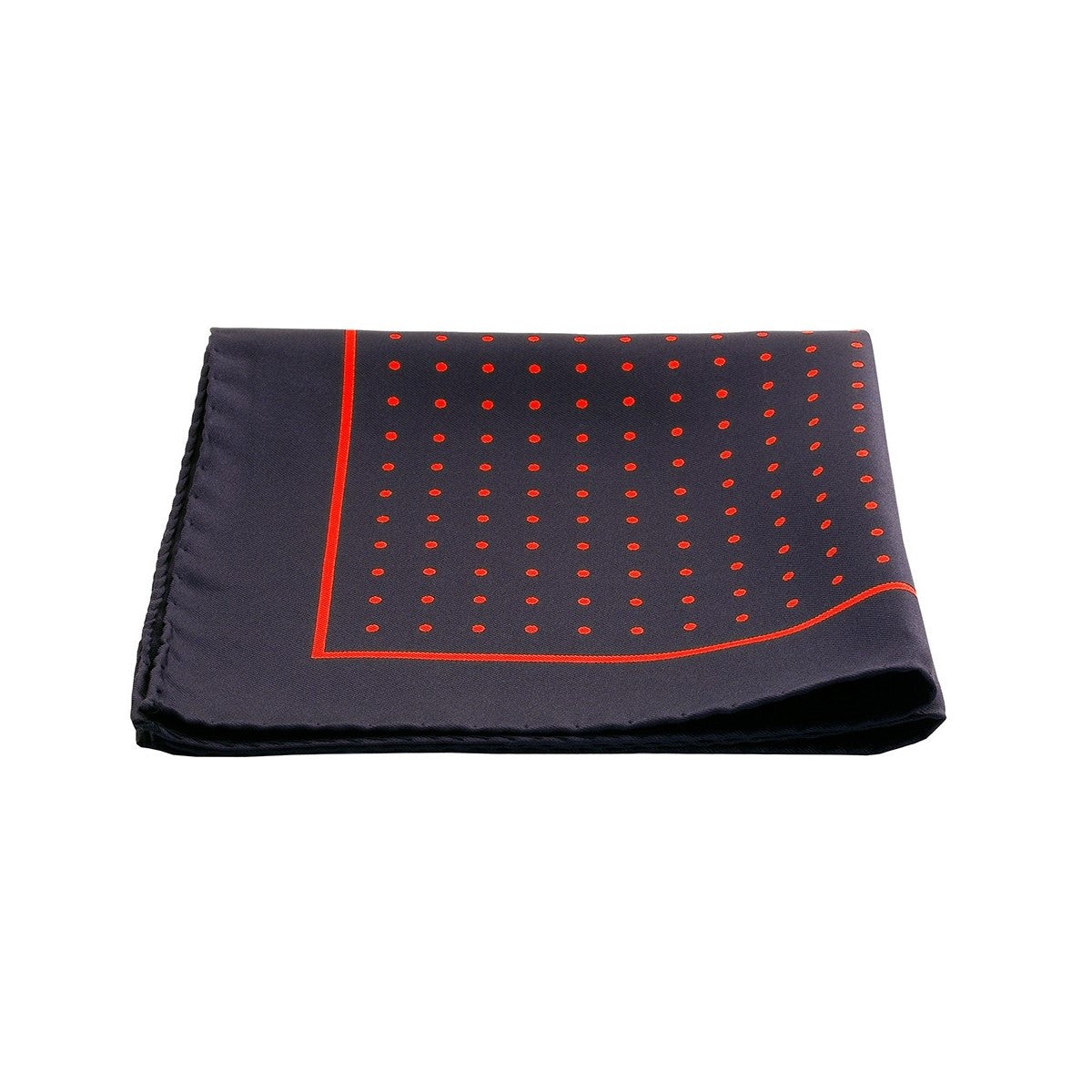 Silk Pocket Square Red Dots Chili Peppers
