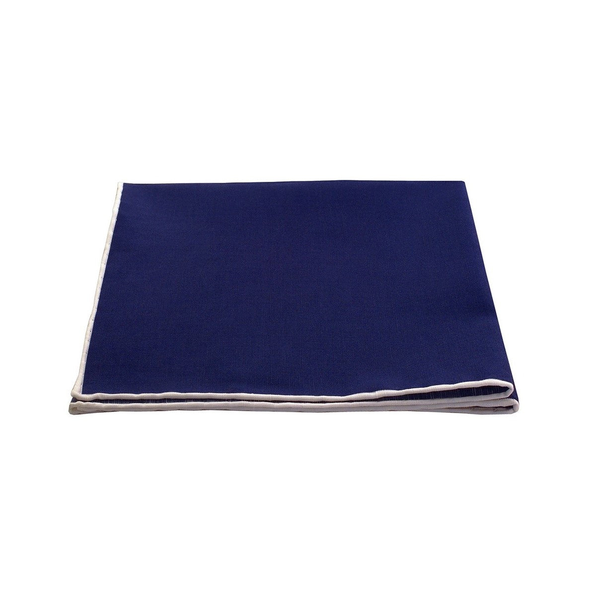 Blue Linen Pocket Square The Thin White Line