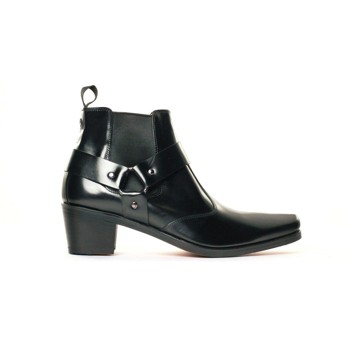Boots elasticated black calf leather Pigalle 5cm
