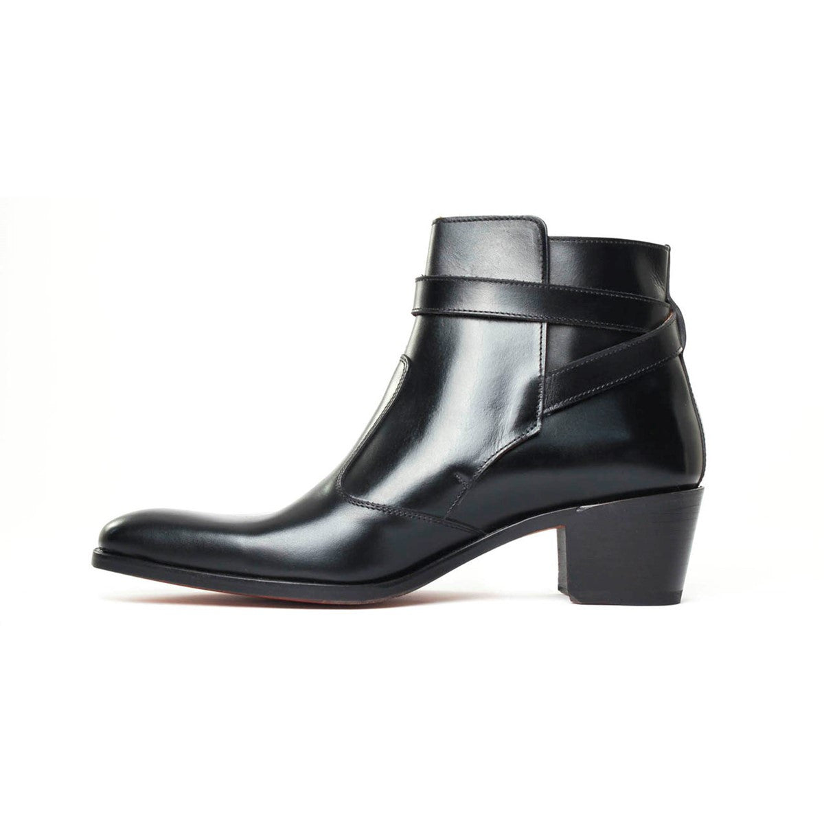 Boots Jodhpur in black calf leather Vincennes 5cm
