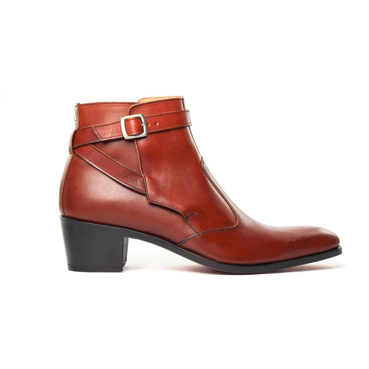 Boots Jodhpur in tabac calf leather Vincennes 5cm