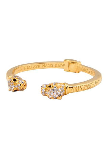Panther Bangle Gold & CZ Diamonds