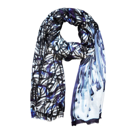 Scarf Blue Cashmere SPIDER INK