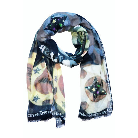 Jackpot brown cachemire scarf Sasha Berry Design