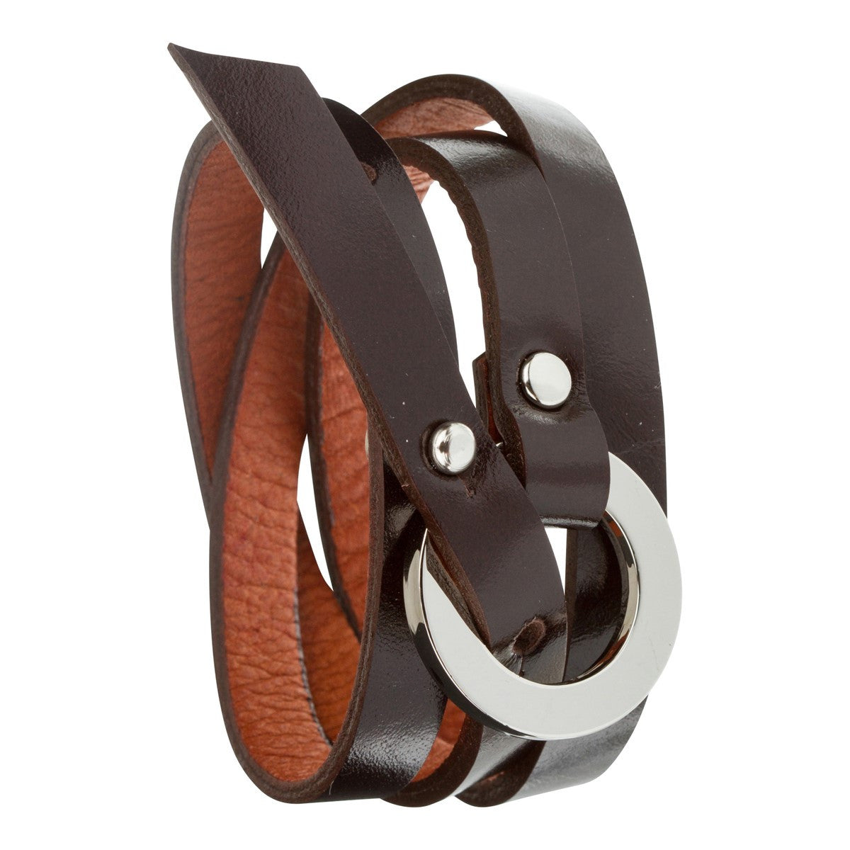 Triple leather wrap bracelet Catchy choco