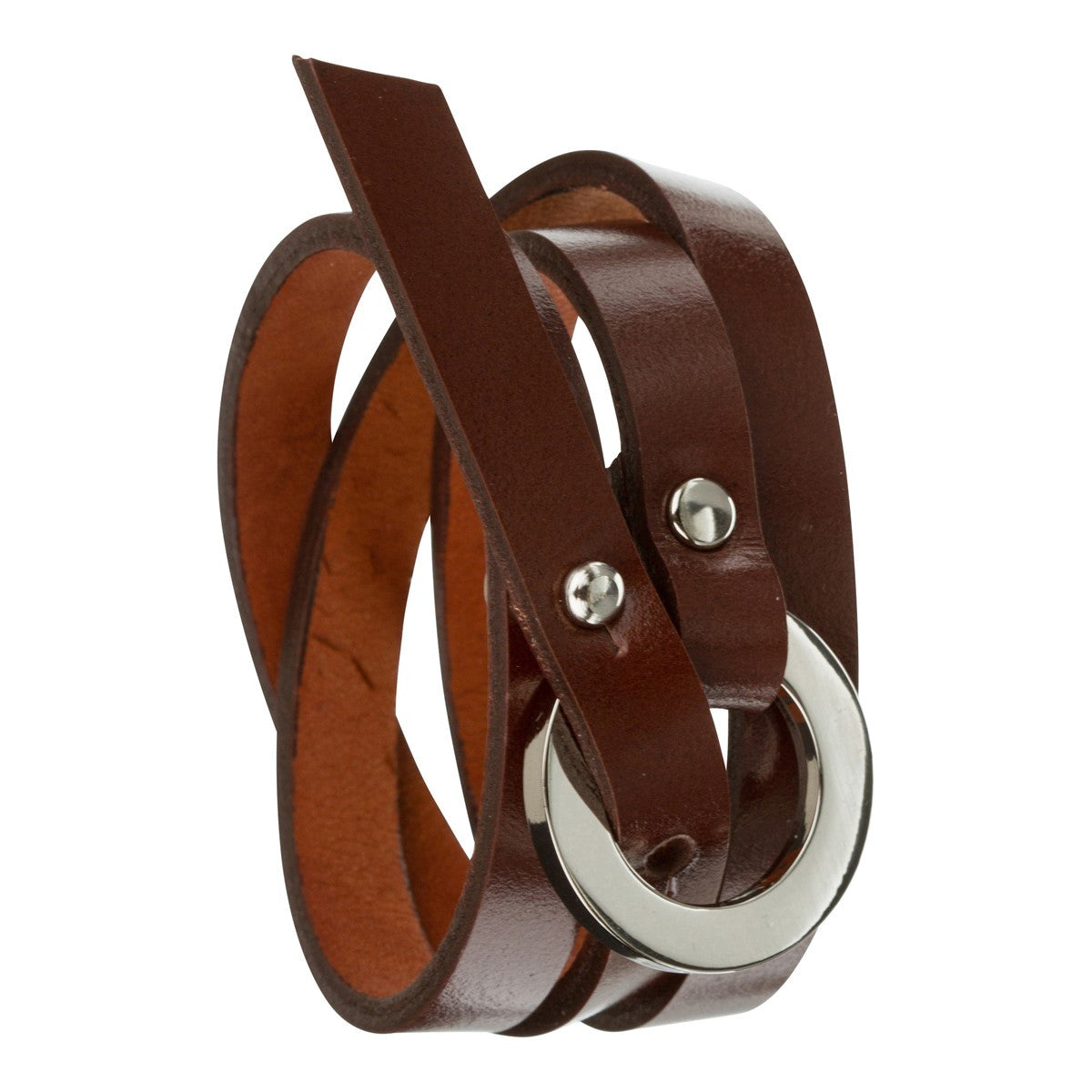 Triple leather wrap bracelet Catchy dark brown