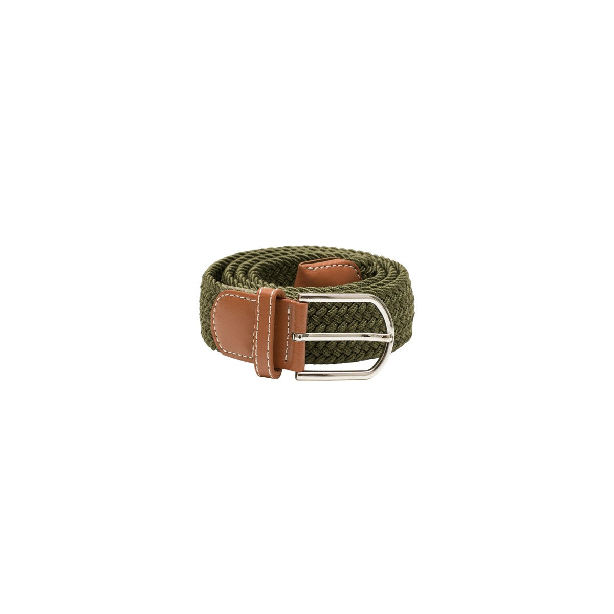 Knitted belt Claudie plain Green