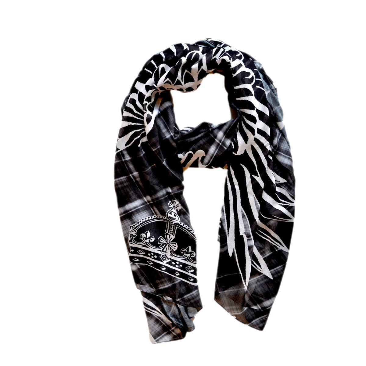 WINGS BLACK SASHA BERRY SCARF