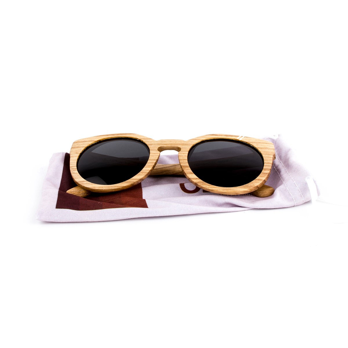 Wooden sunglasses Lady Zebra