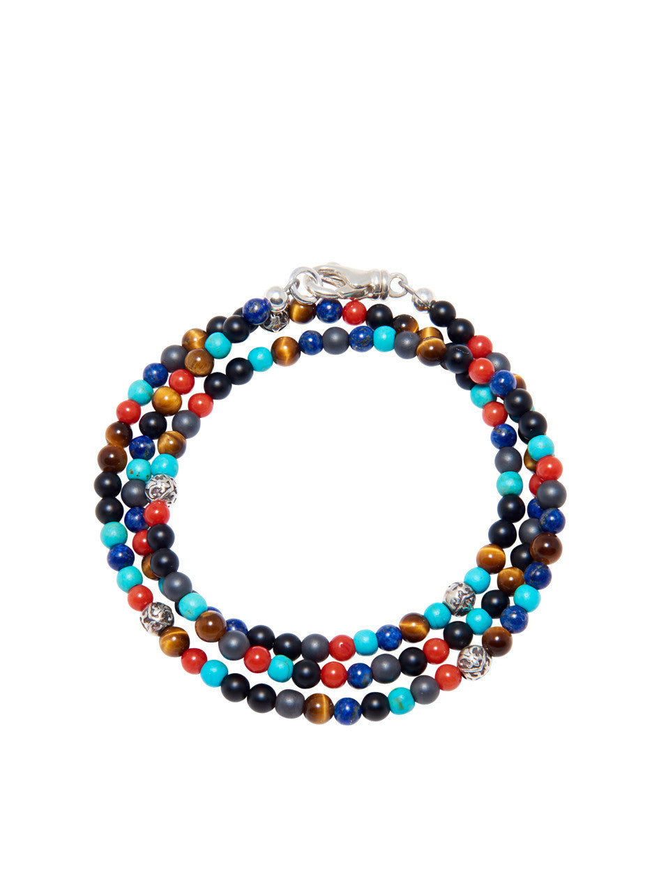 The Mykonos Collection - Turquoise, Red Coral, Blue Lapis, Hematite and Onyx