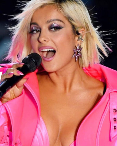 Bebe Rexha wears MAHISA NIKVAND star earrings