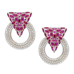 Cultured Ruby statement earrings