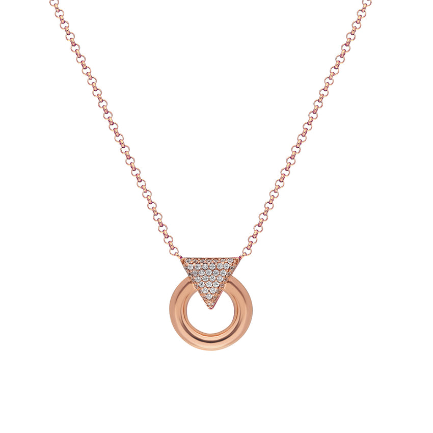 sterling silver necklace in 24K rose gold plated.