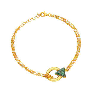 Sterling Silver 24K Gold Plated  Adjustable Length bracelet