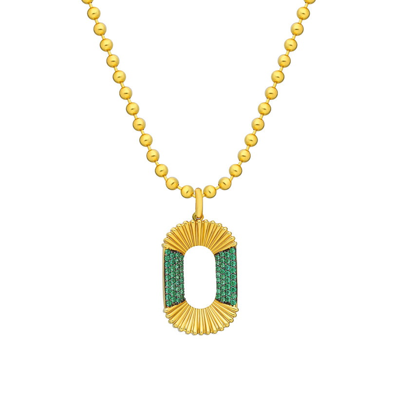 MAHISA NIKVAND, Emerald Green CC Zirconia necklace