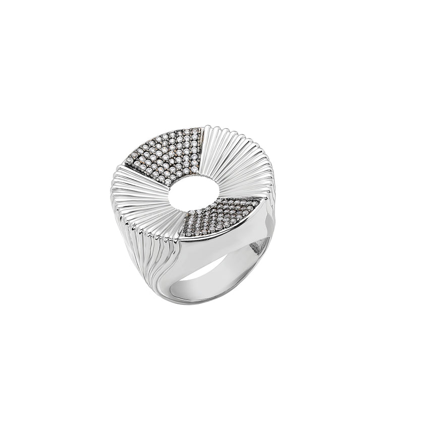 sterling silver ring, inspired by bold and beautiful Greek columns and amphitheatre