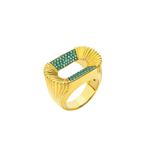 Atticus Emerald Ring