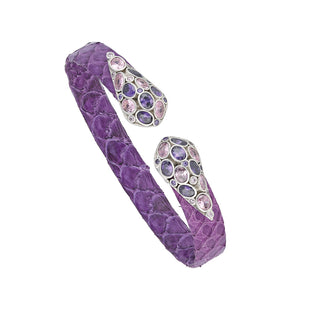 Purple color Python Leather Bracelet