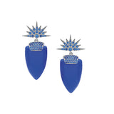 Royal Blue Sterling Silver Earrings.