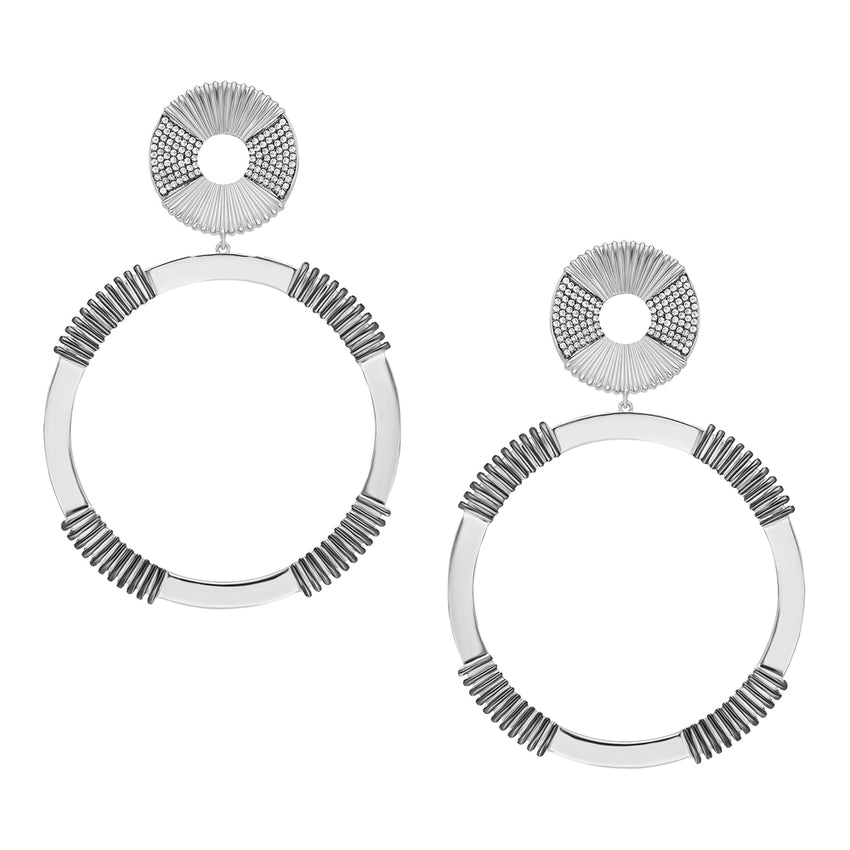Statement round earrings with Clip-on