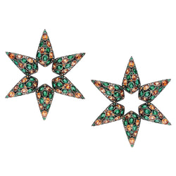 star centered design earring