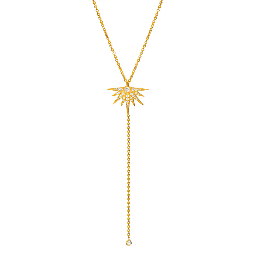 delicate chain necklace in yellow gold plated.