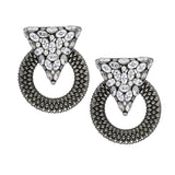 Casa Milla inspired silver earrings in the 24K black rhodium plated.