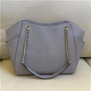 Michael Kors Grey Saffiano Leather Tote Bag