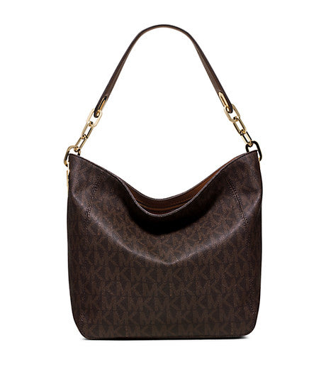 Michael Kors - Fulton MK Signature Shoulder Tote Bag - Brown