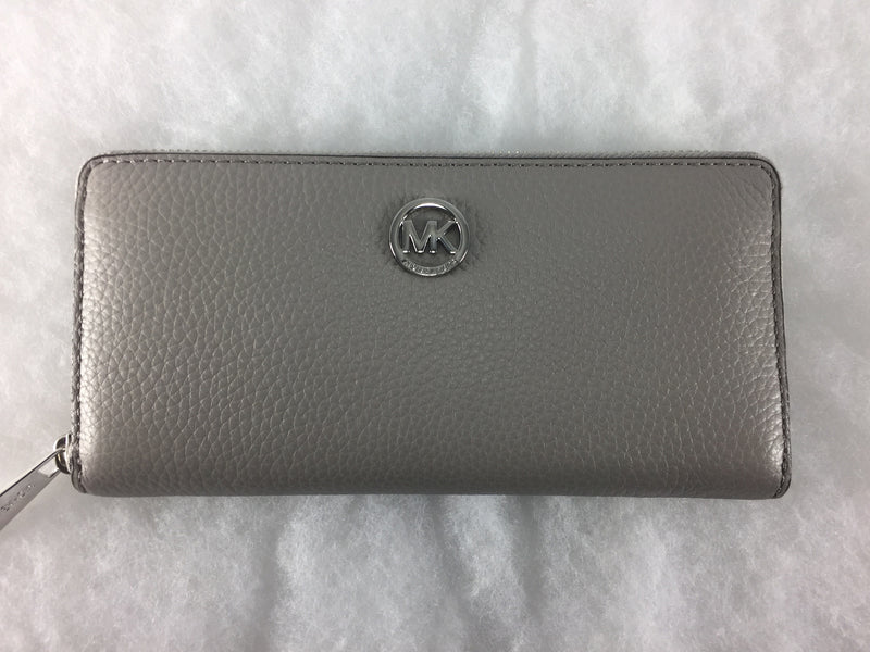 Michael Kors - Fulton Zip Continental Wallet Pearl Grey