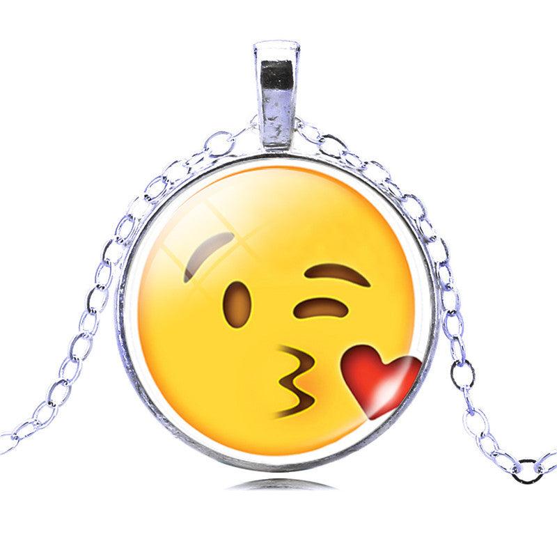 **FREE** Emoji Face Pendant Necklace