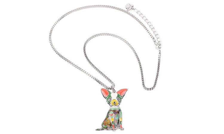 Chihuahuas Dog Pendant Necklace