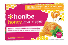 Honibe Honey Lozenges - Pure Honey, Menthol & Eucalyptus