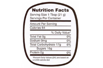 Medium Honey Nutrition Label - Roll of 250