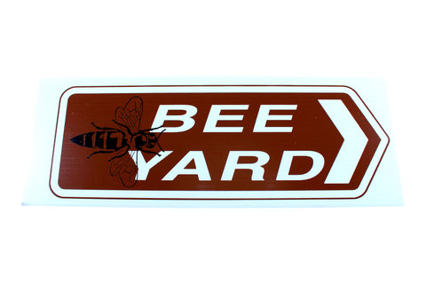 Bee Yard Sign - Burgundy