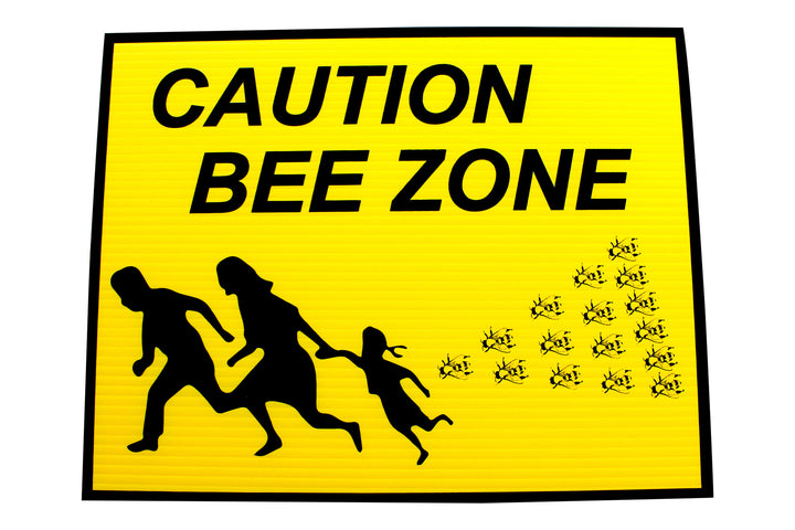 Bee Yard Sign - Bee Zone